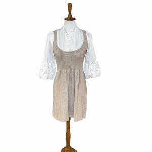 My Tribe vintage beige cream one piece dress small